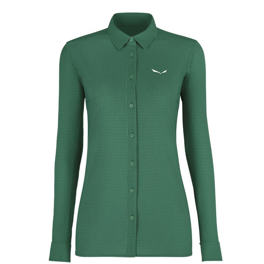 Рубашка Salewa Puez Minicheck 2 DRY L/S Shirt Wms