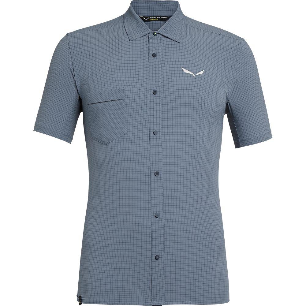 Сорочка Salewa Puez Minicheck 2 DRY S/S Shirt Mns