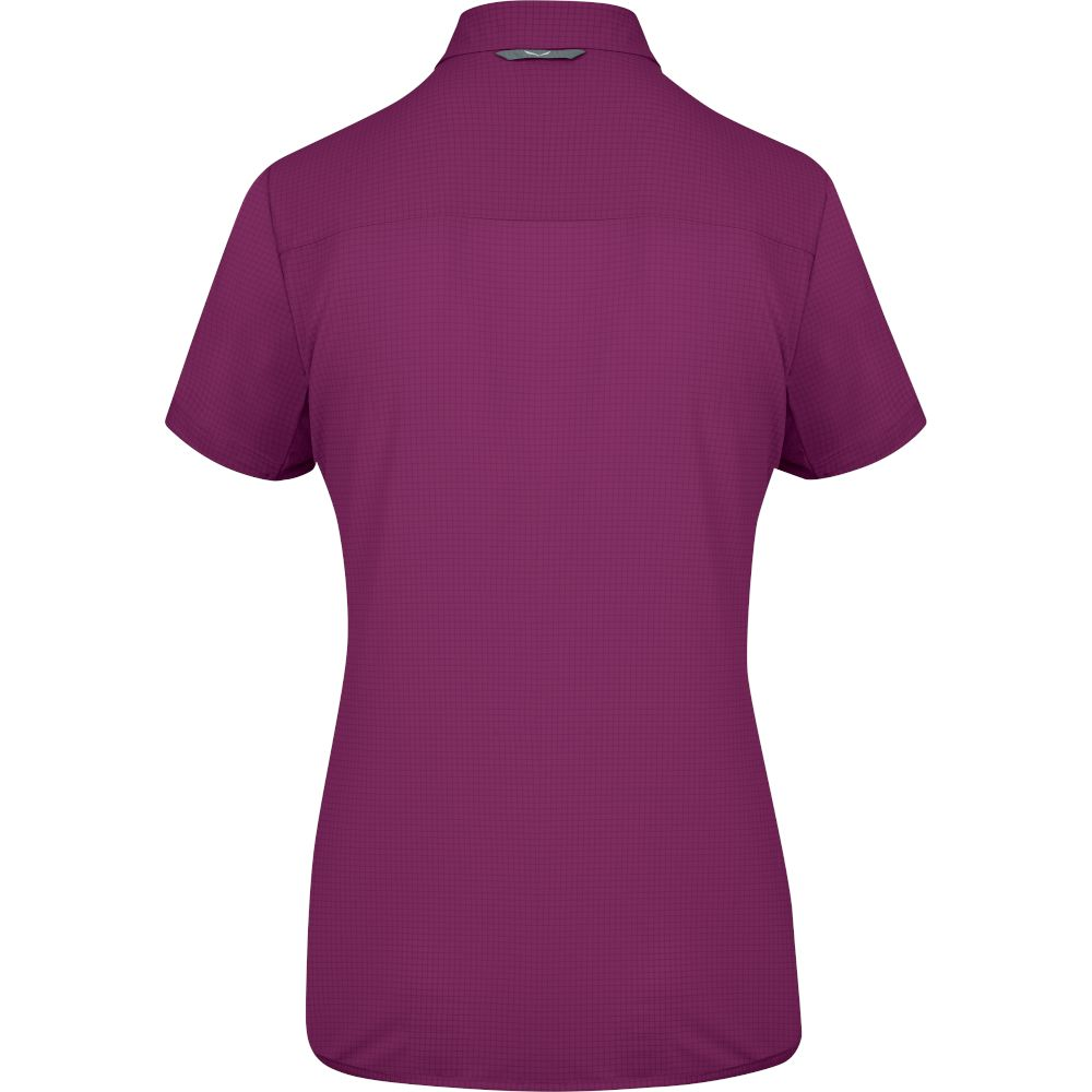 Сорочка Salewa Puez Minicheck 2 DRY S/S Shirt Wms