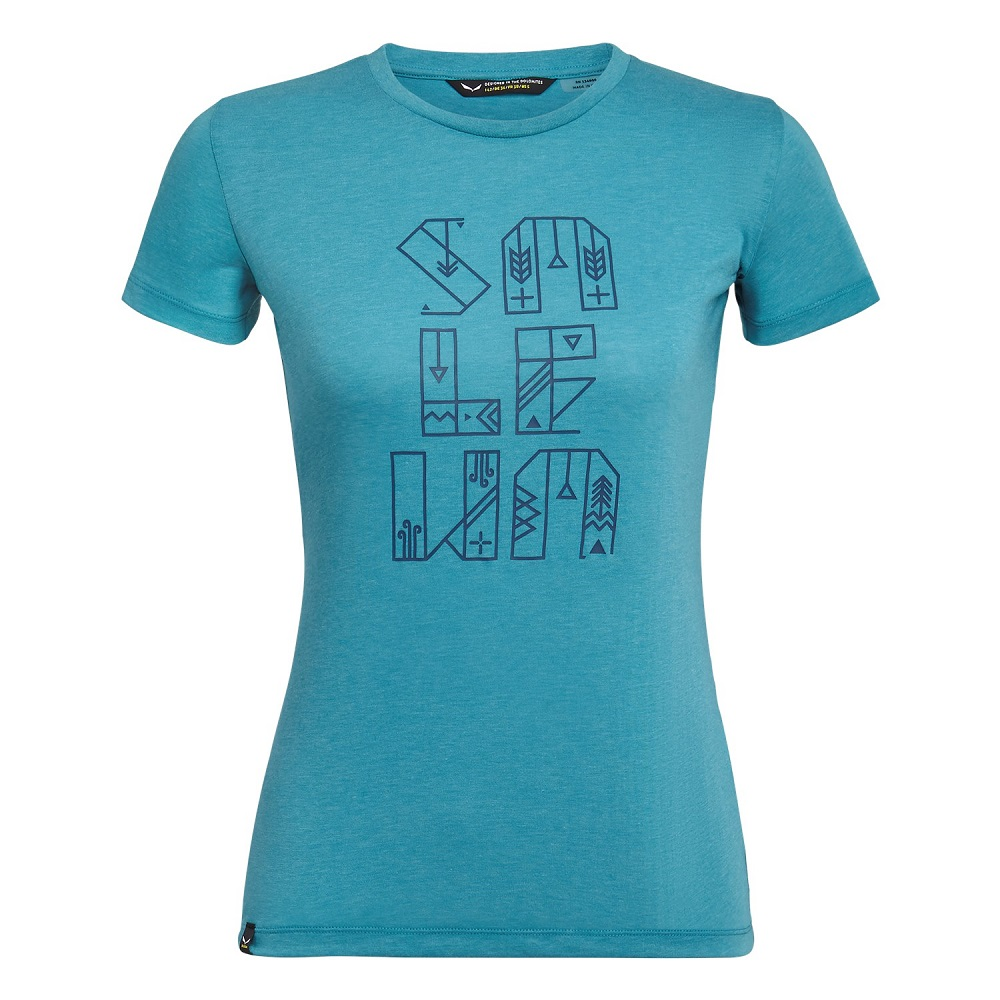 Футболка Salewa Typo Graphic Drirelease Shortsleeve Womens Tee